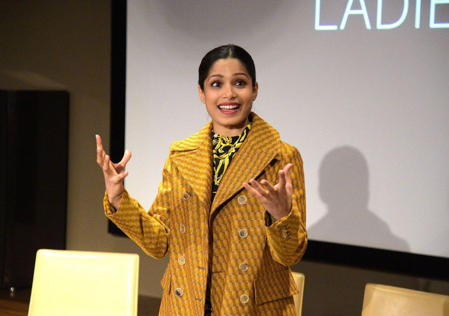 Pinto at the screening of 'Ladies First' in New York City in 2017.
