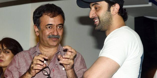 A file photo of Hirani and actor Ranbir Kapoor, who played Sanjay Dutt in the movie.