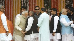 Here's One Theory About What Mulayam Whispered In Modi's Ears At Adityanath's Swearing