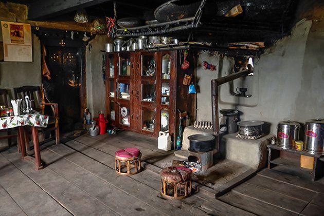 The traditional Monpa kitchen.