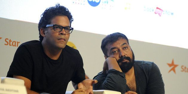 (From left) Vikramaditya Motwane and Anurag Kashyap at the 2016 press conference for the Jio MAMI Mumbai...