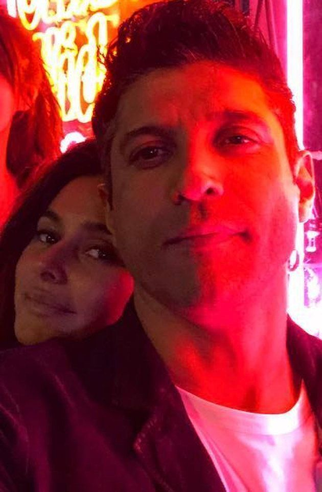 Farhan Akhtar with ShibanI