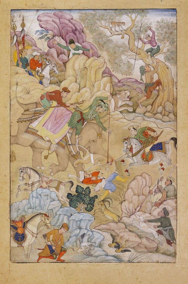 A painting representing Jahangir's lion