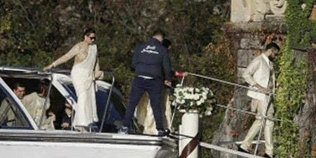 The wedding is currently underway in Lake Como, Italy.