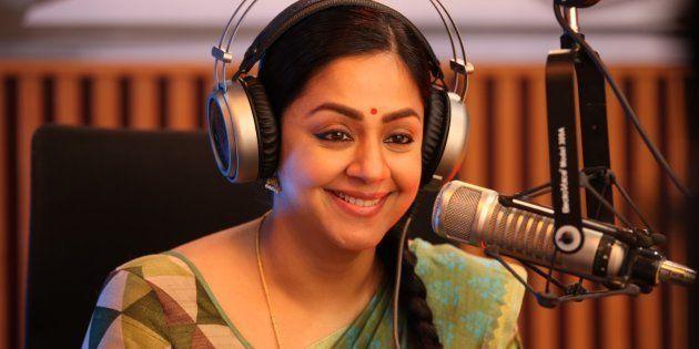 Jyothika in a still from 'Kaatrin Mozhi'.
