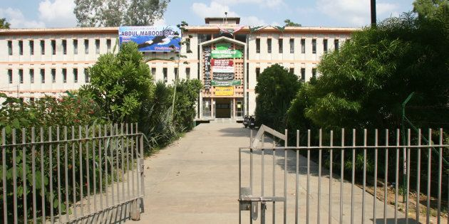 View of the Aligarh Muslim University Campus in Uttar Pradesh,