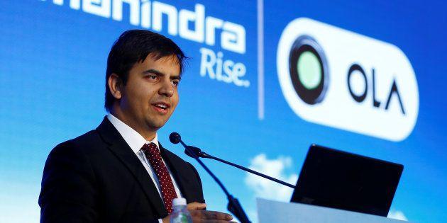 Bhavish Aggarwal, CEO and co-founder of Ola, an app-based cab service