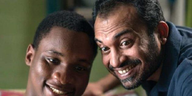 Samuel Robinson and Soubin Shahir in a still from 'Sudani from
