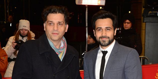 A 2013 photo of Danis Tanovic (left) with Emraan
