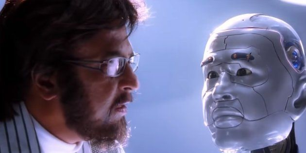 A still from Rajinikanth's Robot.