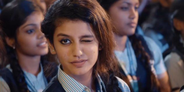 Actress Priya Prakash Varrier in the song 'Manikya Malaraya Poovi' from the film 'Oru Adaar