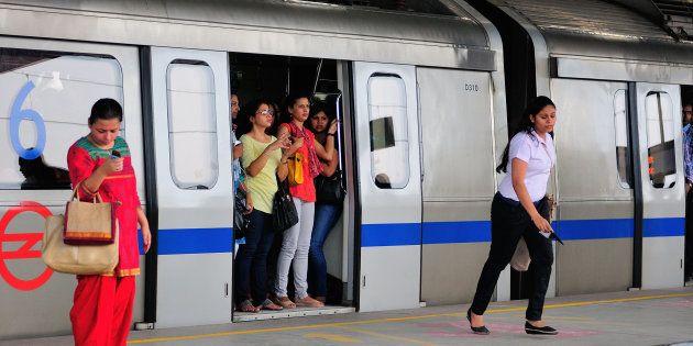 NEW DELHI, INDIA JULY 24: The picture featuring women compartment in Delhi