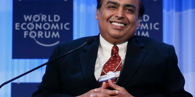 Mukesh Ambani Chairman and Managing Director of Reliance Industries attends the annual meeting of the...