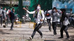 Hundreds Of Students In Kashmir Are Out On The Streets To Protest Against The Security