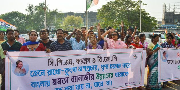 The Kolkata unit of Trinamool Congress Party hold a protest march in Kolkata. The rally started from...