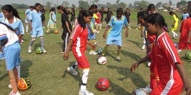 Village girls in Bihar have started playing football to fight against child