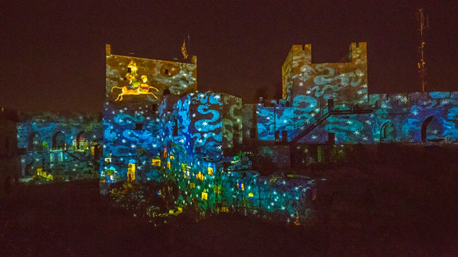 Night Spectacular 3D Projection Show at the Tower of