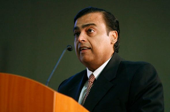 Mukesh Ambani, chairman of Indian energy company Reliance