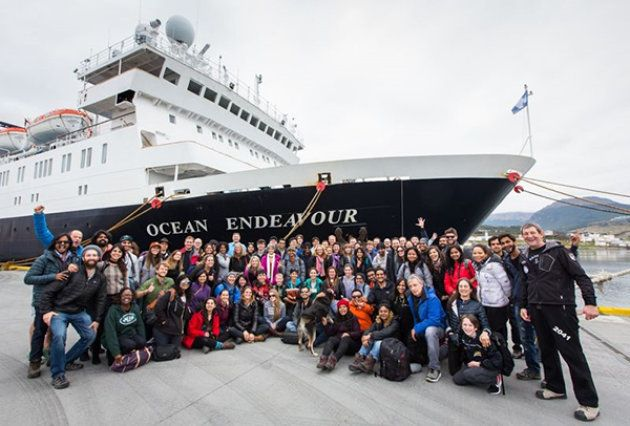 The expedition team at Ushuaia before boarding the