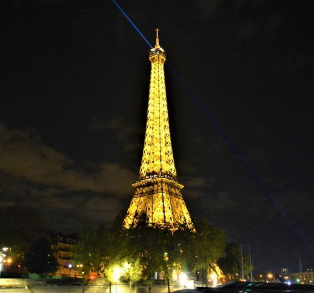 The iconic Eiffel Tower,