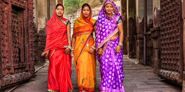There Are Over A Hundred Ways To Drape Saris, But This One Became The Most