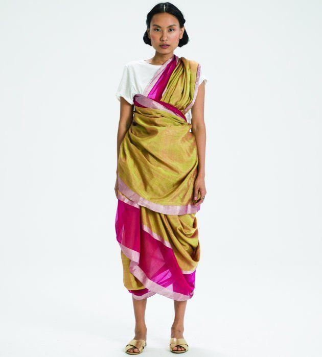 Agari sari drape, Maharashtra