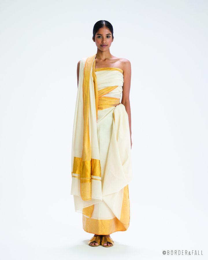 Adivasi sari drape, Kerala