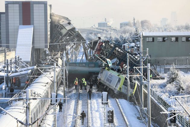 L'accident de train près d'Ankara, le 13 décembre