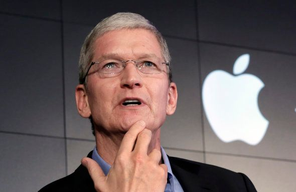 FILE - In this April 30, 2015 file photo, Apple CEO Tim