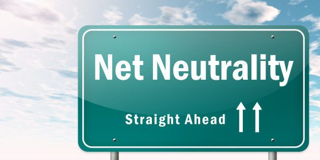 Highway Signpost with Net Neutrality