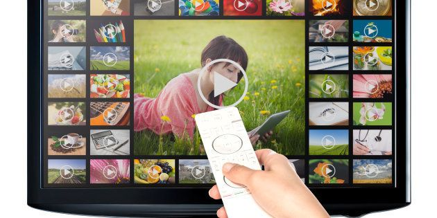 Video on demand VOD service on TV, television