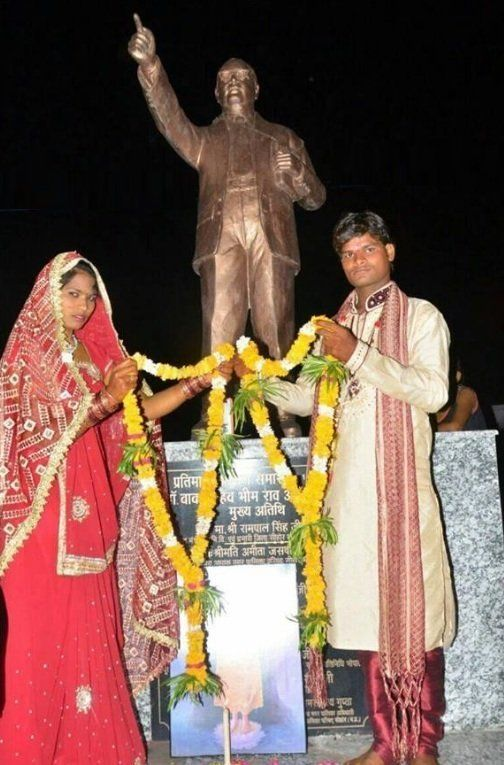 Dalit Couple Who Could Not Afford To Have A Ceremony, Got Married In Front Of Ambedkar's