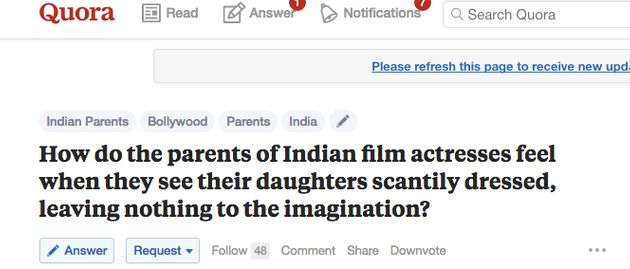 A Bunch Of Men On Quora Are Debating About Indian Actresses In 'Skimpy Clothes' And It's