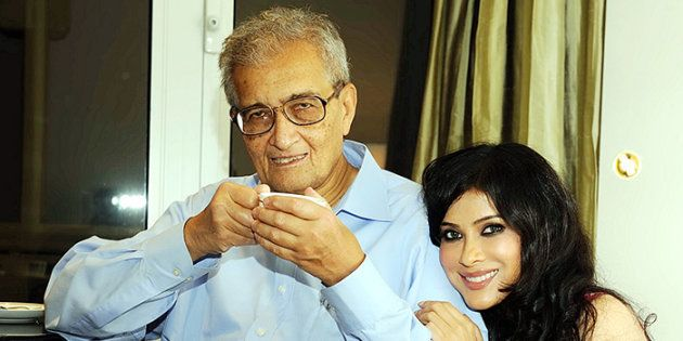 Amartya Sen and daughter Nandana Sen.