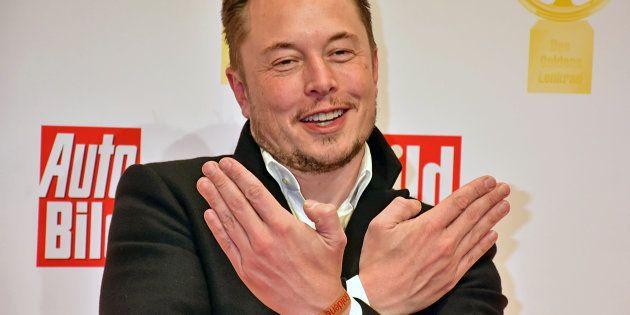 BERLIN, GERMANY - NOVEMBER 08: Elon Musk attends the 'Goldenes Lenkrad' Award at Axel Springer Haus on...