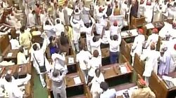 Opposition Throws Paper Balls At Governor Ram Naik As Pandemonium Reigns In UP