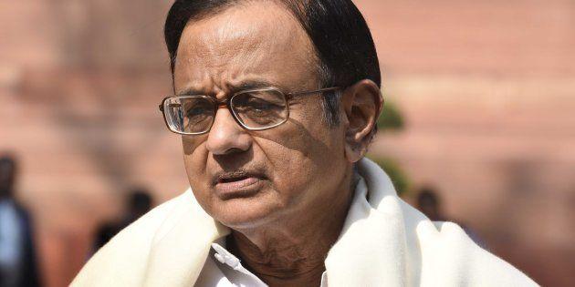 NEW DELHI, INDIA - FEBRUARY 9: Former Union Minister of Finance and Congress Rajya Sabha MP P. Chidambaram...