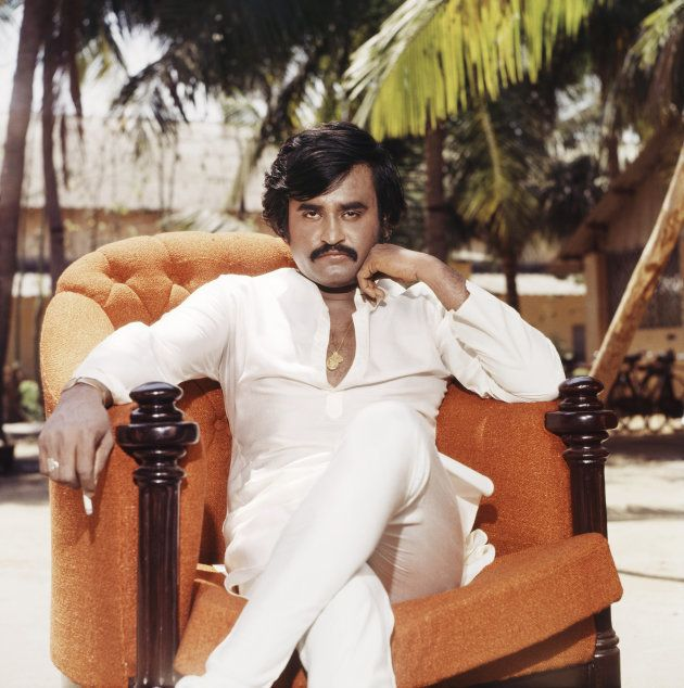 1986, Portrait of Indian film actor Rajinikanth. (Photo by Dinodia Photos/Getty