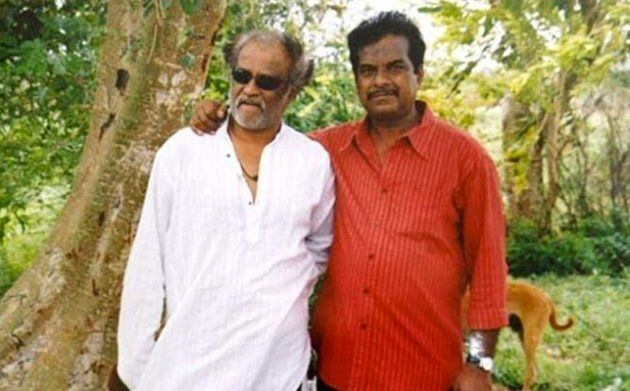 File photo of actor Rajinikanth with his friend Raj