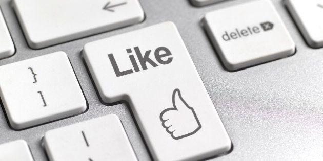 Social media 'Like' symbol on