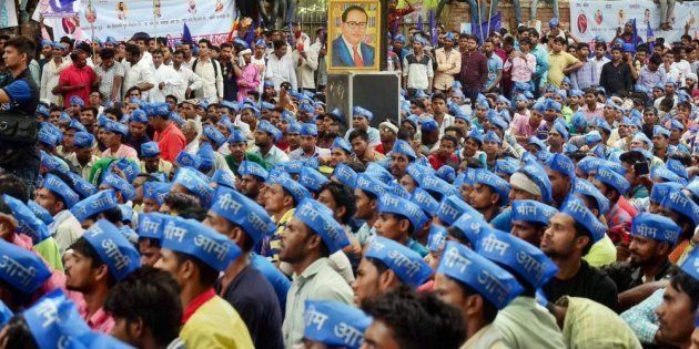 Protest At Jantar Mantar Over Alleged Atrocities Against Dalits In