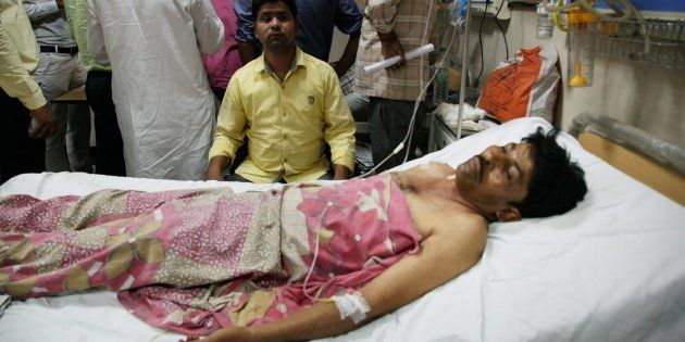 Saharanpur: An injured being treated at a hospital in Saharanpur on Wednesday, a day after fresh clashes....