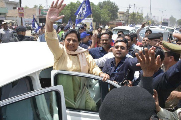 BSP Supermo Mayawati in attempt to regain lost political ground on way to Shaharanpur following recent...