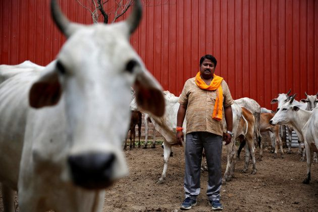 Digvijay Nath Tiwari, the commander of a Hindu nationalist vigilante group established to protect cows,...