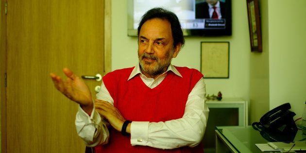 Prannoy Roy, Co-founder and Executive Co-Chairperson of New Delhi Television (NDTV), poses for a profile...