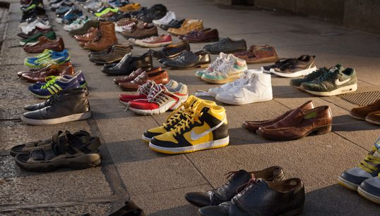 World Mental Health Day: Shoes Lined Up Around The World To Show The Devastating Costs Of