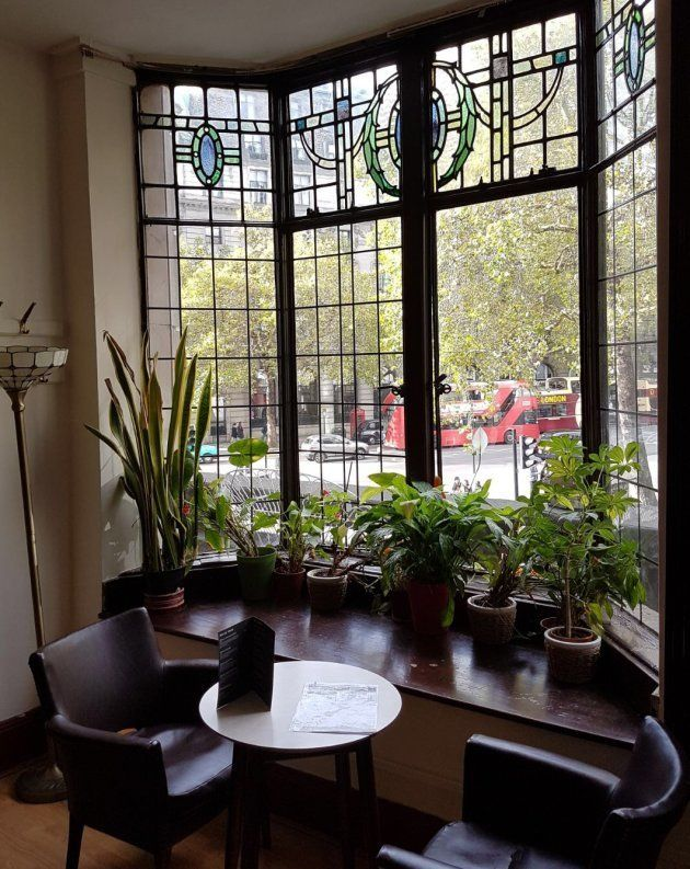 The cosy bar area offers views of the Strand