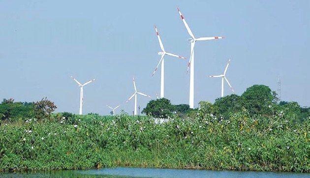 A wind farm in Dhule,
