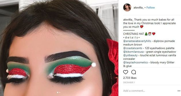 Get Into The Santa Hat Trend Makeup Lovers Are Raving