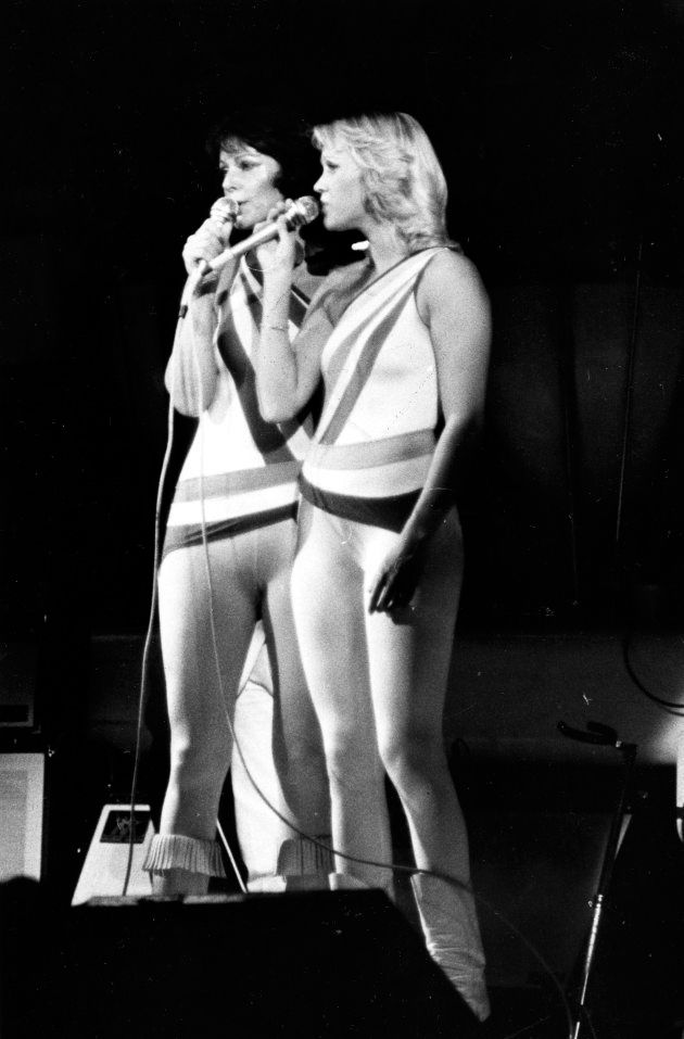 TORONTO: Photo of Agnetha Faltskog and Anni-Frid Lyngstad in concert at Maple Leaf Gardens taken by Frank...